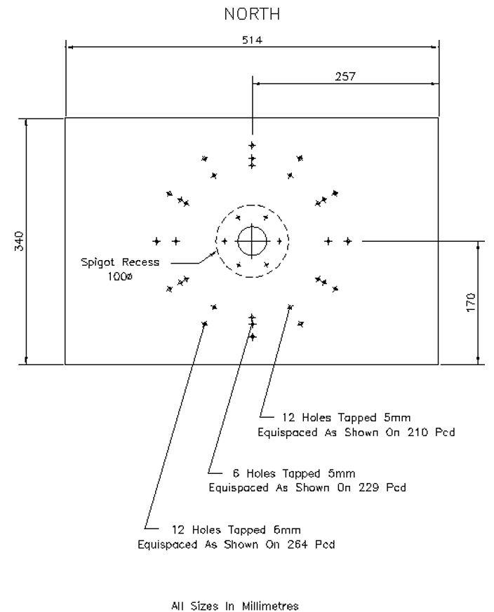 Figure 6. Filter box mount plate.